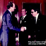 King Juan Carlos I of Spain meeting Bronces Mestre founder, Mr. Jose María Simó Nogues