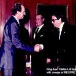 King Juan Carlos I of Spain meeting Bronces Mestre founder, Mr. Jose María Simó Nogues
