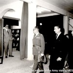 The minister of Spanish Army visiting Bronces Mestre, 1965
