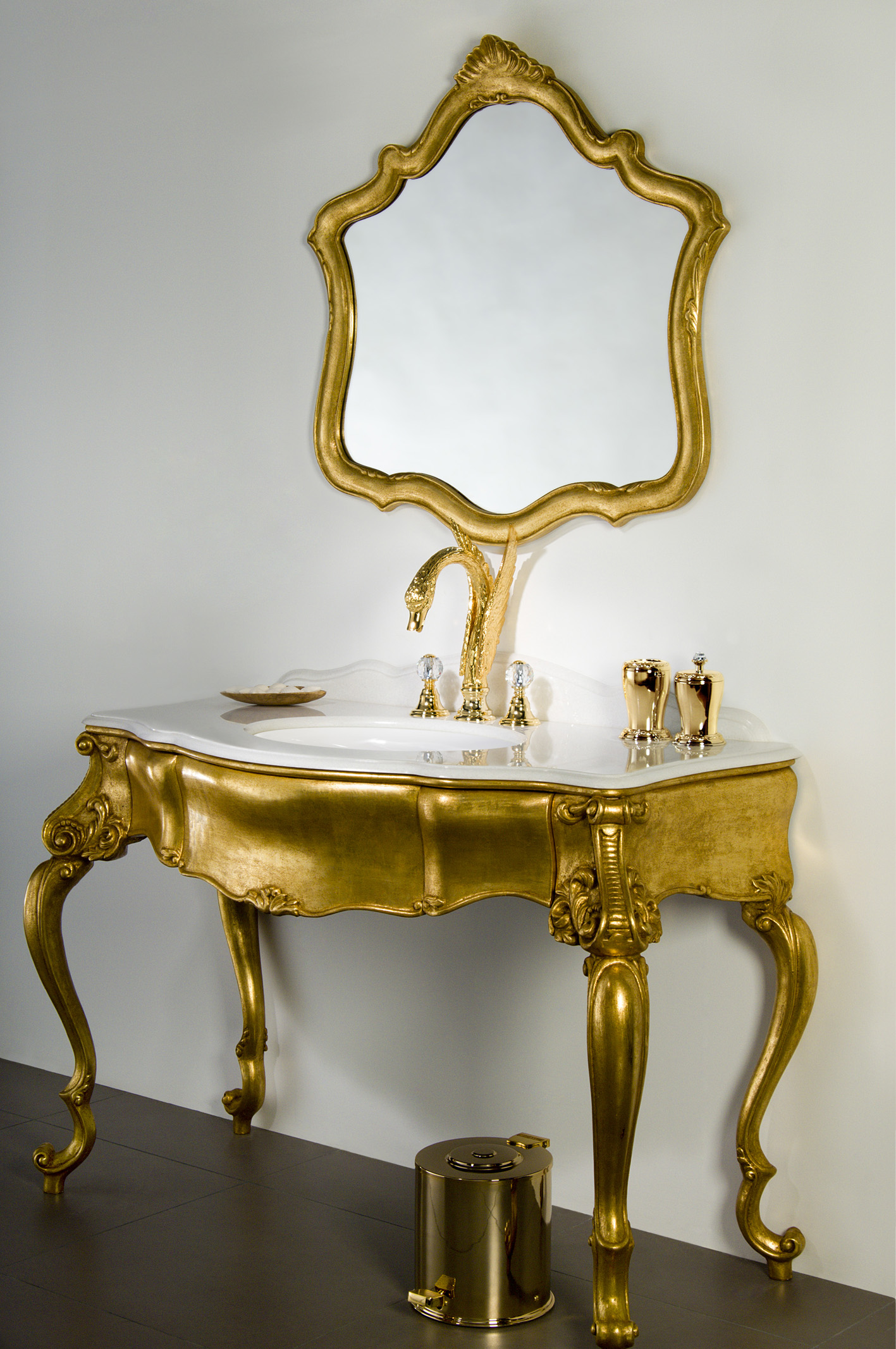 overstock bath free polished bedding shipping product accessories freestanding bathroom modern brass today