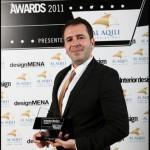 Mr. Elie Choucair, winner of The Interior Design award as best interior design of 2011