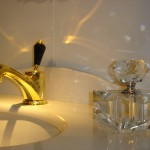 luxury faucet by mestre with swarovski crystals