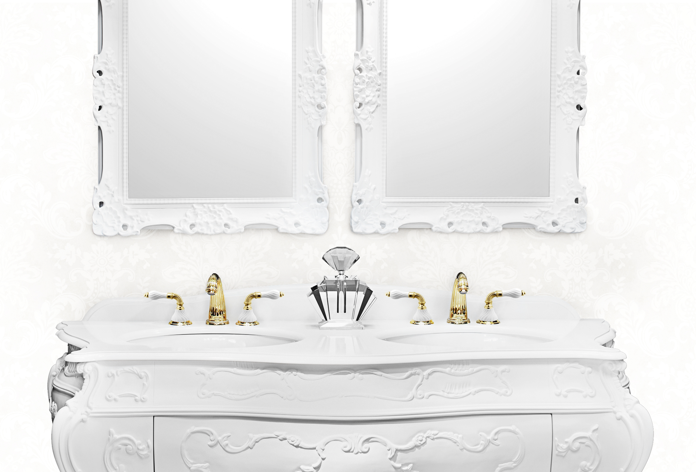 Regency bathroom style for lovers of the classical