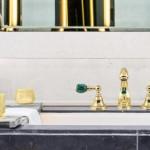 faucets, precious stones, bronces mestre, malachite, new collection, atlantica precious