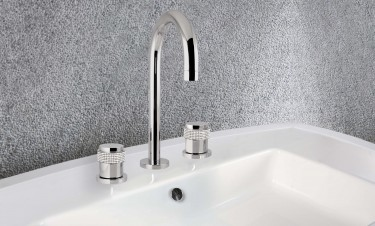 basin mixer 3 hole luxury soho bronces mestre handle detail swarovski NEW