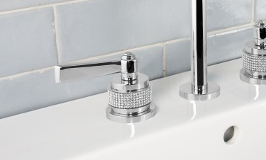 basin mixer 3 hole luxury soho bronces mestre handle detail swarovski
